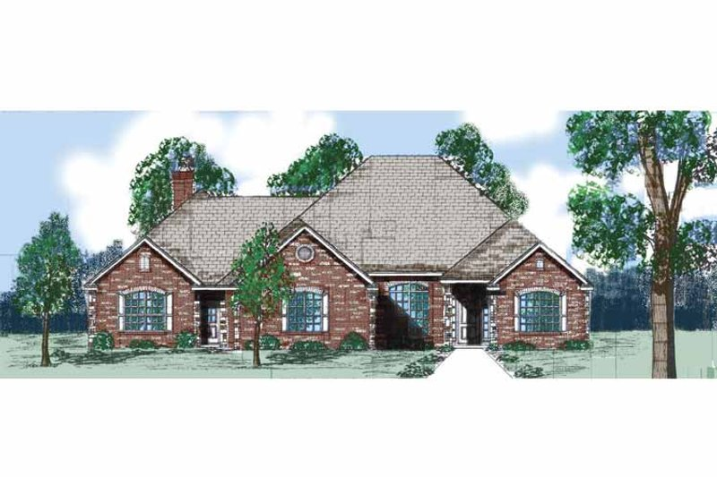 Traditional Exterior - Front Elevation Plan #52-284 - Houseplans.com