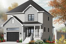 European Exterior - Front Elevation Plan #23-2589