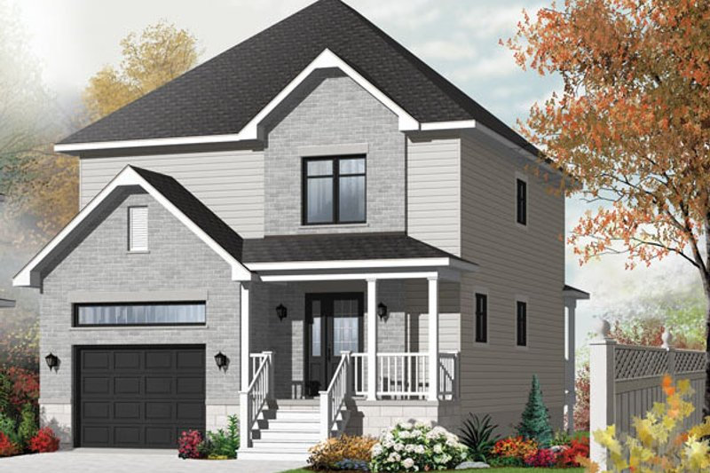 European Exterior - Front Elevation Plan #23-2589 - Houseplans.com
