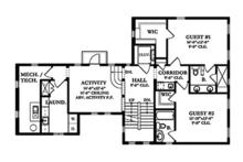 Mediterranean Floor Plan - Upper Floor Plan Plan #1058-155