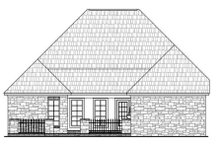Dream House Plan - European Exterior - Rear Elevation Plan #21-260