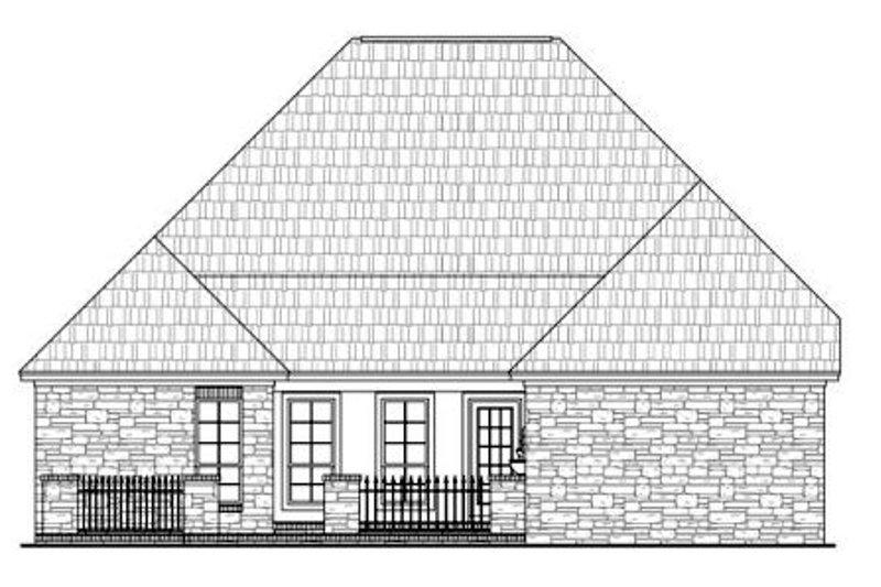 European Exterior - Rear Elevation Plan #21-260 - Houseplans.com