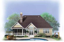 Country Exterior - Rear Elevation Plan #929-739