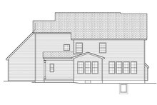Colonial Exterior - Rear Elevation Plan #1010-169