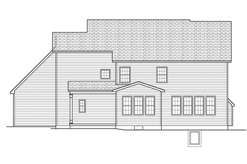 Colonial Exterior - Rear Elevation Plan #1010-169 - Houseplans.com