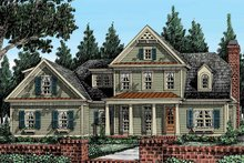 House Design - Country Exterior - Front Elevation Plan #927-374