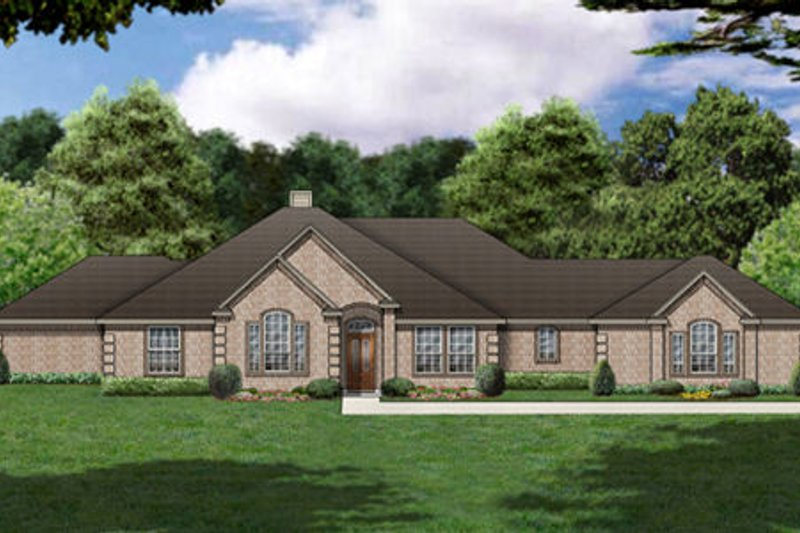 Traditional Exterior - Front Elevation Plan #84-363 - Houseplans.com