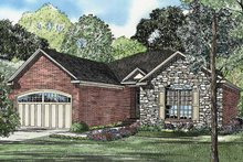 Country Exterior - Front Elevation Plan #17-3166