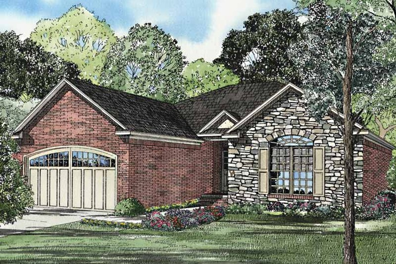 Country Exterior - Front Elevation Plan #17-3166 - Houseplans.com