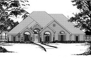 European Exterior - Front Elevation Plan #62-111