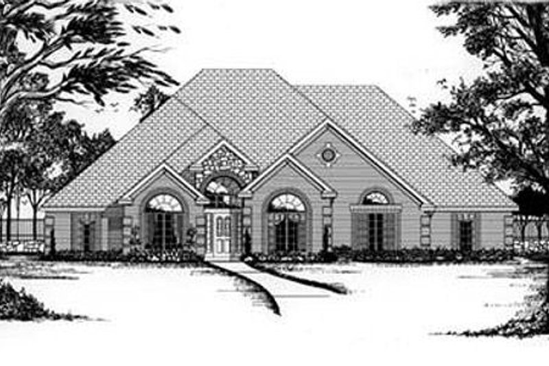 European Exterior - Front Elevation Plan #62-111 - Houseplans.com