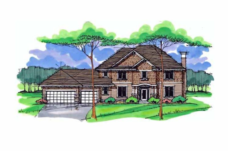 Dream House Plan - Colonial Exterior - Front Elevation Plan #51-1015
