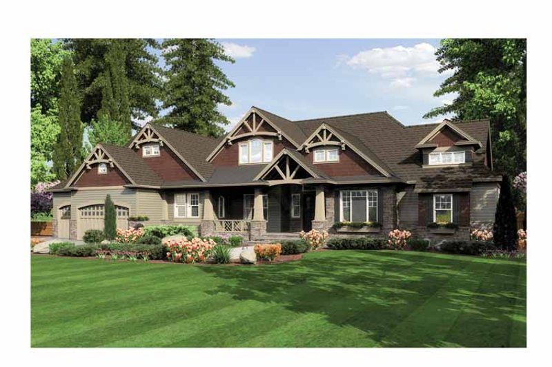 Traditional Exterior - Front Elevation Plan #132-555 - Houseplans.com