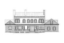 Classical Exterior - Rear Elevation Plan #137-242