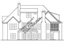 House Plan Design - European Exterior - Rear Elevation Plan #927-400