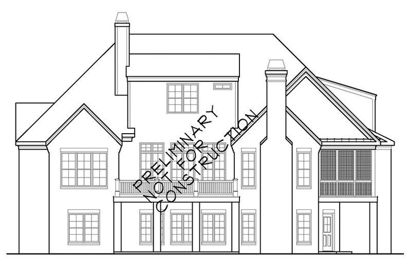 European Exterior - Rear Elevation Plan #927-400 - Houseplans.com