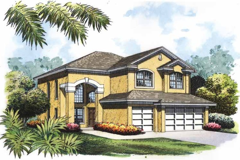 Mediterranean Exterior - Front Elevation Plan #417-771
