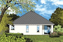 House Design - European Exterior - Rear Elevation Plan #417-827