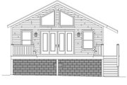 Country Style House Plan - 1 Beds 1 Baths 780 Sq/Ft Plan #932-139 Exterior - Rear Elevation