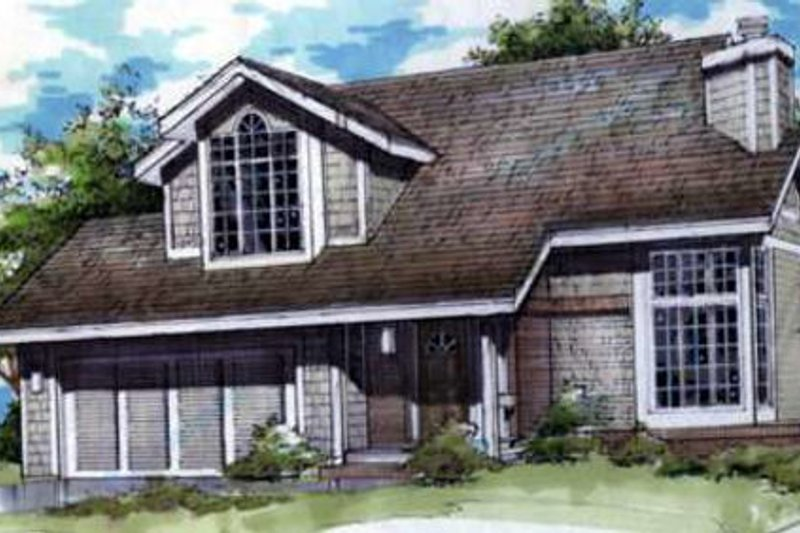 Architectural House Design - Traditional Exterior - Front Elevation Plan #320-371