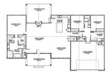 Craftsman Floor Plan - Main Floor Plan Plan #1073-3