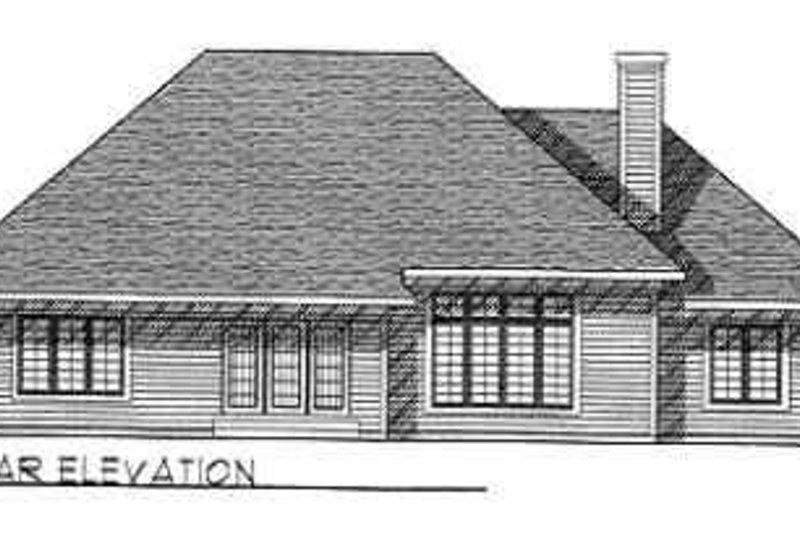 Traditional Exterior - Rear Elevation Plan #70-349 - Houseplans.com