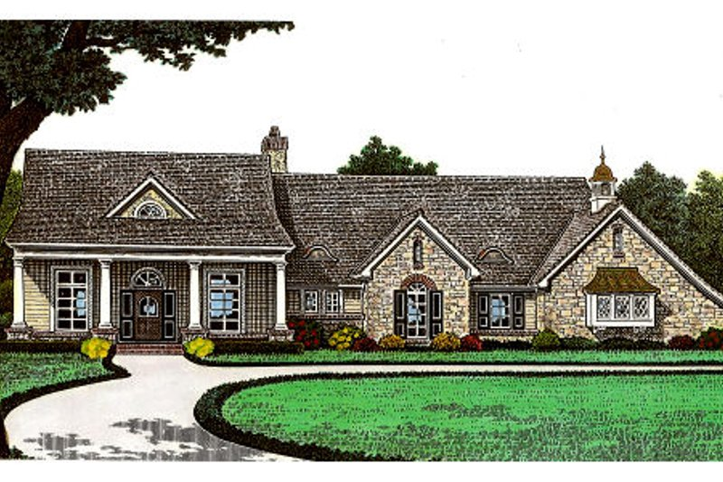 European Exterior - Front Elevation Plan #310-649