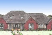Traditional Style House Plan - 4 Beds 3 Baths 2285 Sq/Ft Plan #310-615 Exterior - Front Elevation