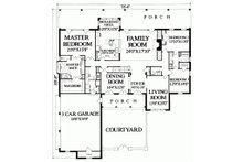 Country Floor Plan - Main Floor Plan Plan #137-279