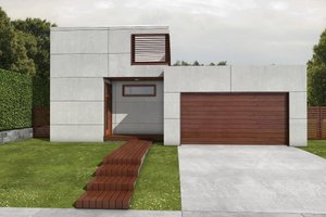Modern Exterior - Front Elevation Plan #497-22