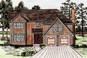European Style House Plan - 5 Beds 2.5 Baths 2470 Sq/Ft Plan #405-129 Exterior - Front Elevation