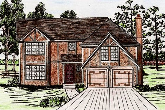 European Exterior - Front Elevation Plan #405-129