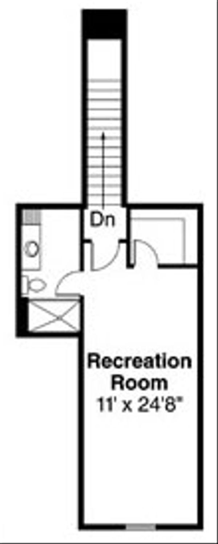 Craftsman Floor Plan - Upper Floor Plan Plan #124-779