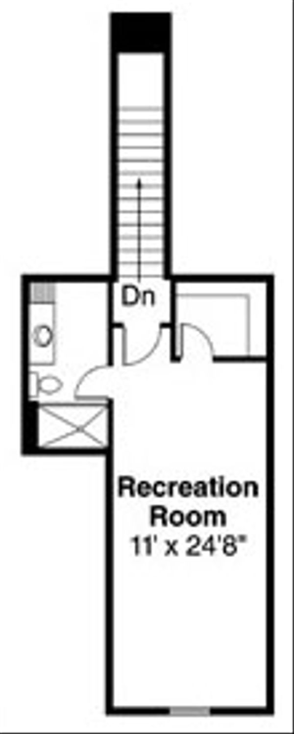 Craftsman Floor Plan - Upper Floor Plan Plan #124-779