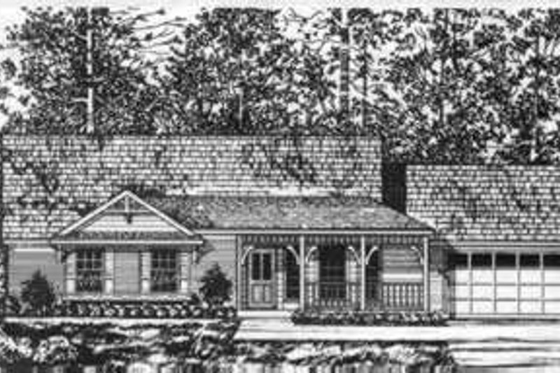 Country Exterior - Front Elevation Plan #40-346