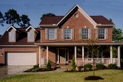 Traditional Style House Plan - 3 Beds 2.5 Baths 1698 Sq/Ft Plan #46-122 Exterior - Front Elevation