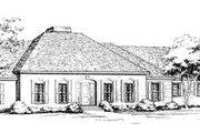 European Style House Plan - 5 Beds 3.5 Baths 3151 Sq/Ft Plan #10-262 Exterior - Front Elevation