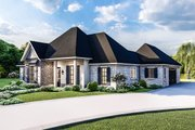 Country Style House Plan - 4 Beds 2.5 Baths 2298 Sq/Ft Plan #406-9658 Exterior - Front Elevation