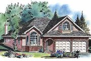 Ranch Style House Plan - 4 Beds 3 Baths 1884 Sq/Ft Plan #18-207 Exterior - Front Elevation