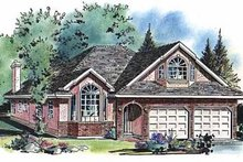 House Blueprint - Ranch Exterior - Front Elevation Plan #18-207