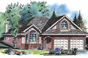 Ranch Exterior - Front Elevation Plan #18-207