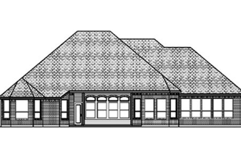 Traditional Exterior - Rear Elevation Plan #84-399 - Houseplans.com
