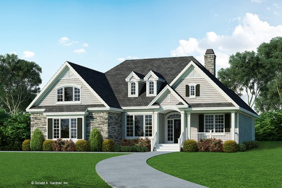 Country Exterior - Front Elevation Plan #929-739