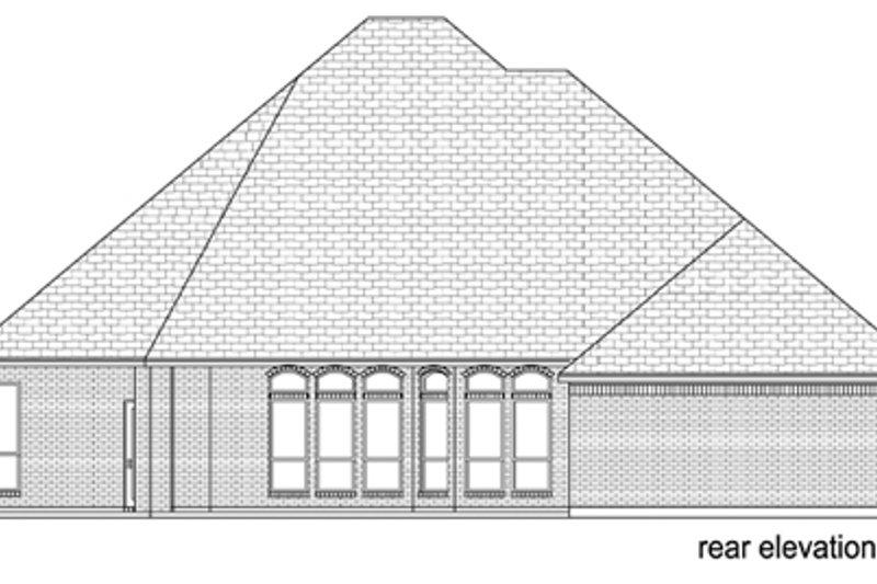 European Exterior - Rear Elevation Plan #84-507 - Houseplans.com