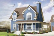 Country Style House Plan - 3 Beds 2.5 Baths 1702 Sq/Ft Plan #23-2502 Exterior - Front Elevation