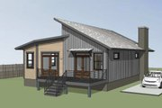Modern Style House Plan - 3 Beds 2 Baths 1350 Sq/Ft Plan #79-292 Exterior - Rear Elevation