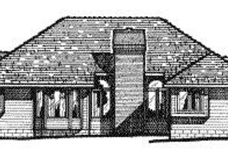 Traditional Exterior - Rear Elevation Plan #20-710 - Houseplans.com