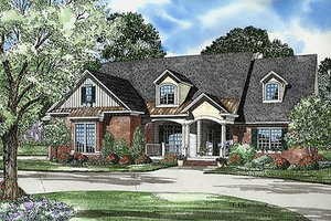 Traditional Exterior - Front Elevation Plan #17-520