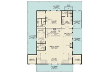 Country Floor Plan - Main Floor Plan Plan #923-97