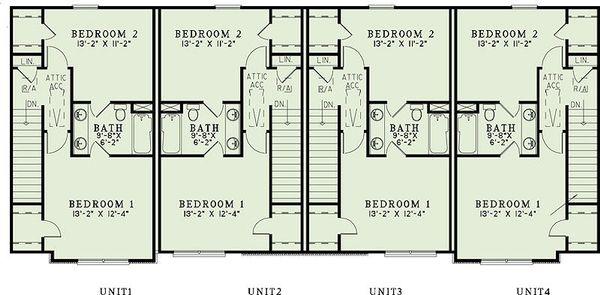 Traditional Floor Plan - Upper Floor Plan Plan #17-2468